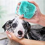 Haustierzubehör WJPet Bad Massagebürste Hund Rub Badhandschuhe mit Pinsel (Farbe : Random Color...