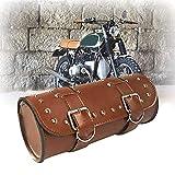 KYN Motorrad-Lenkertasche Sissy Bar Seitentasche Werkzeugtasche Vorderradgabel Rolle Barrel Tasche...