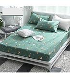YUDEYU Dreiteiliger Anzug (Bettdecken X1, X2 Pillowcase) Baumwolle Bedspread rutschfeste Feste...