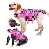 Kuoser Hundeschwimmweste, Ripstop-Lebensretter mit überlegenem Auftrieb und Rettungsgriff für...
