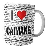 I Love Caimans – Tee – Kaffee – Tasse – Tasse – Geburtstag – Weihnachten – Geschenk