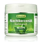 Greenfood Nachtkerzenöl, 1000 mg, hochdosiert, 240 Kapseln – reich an Omega 6 und GLA. OHNE...