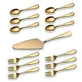 Berglander glänzend Gold Titan Überzogene Edelstahl Kuchen Serving Set, Kuchen Tortenheber,...