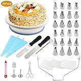 WisFox Tortenplatte Drehbar Tortenständer Kuchen Drehteller Cake Decorating Turntable mit...