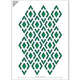 QBIX Diamant Schablone Schablone Karo Muster Muster Schablone A4 Größe Schablone DIY Schablone...