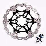 Fahrrad Bremsscheibe 160mm 6 Loch MTB Edelstahl Scheibenbremse Bremsscheiben, Fahrrad bunte Bremse...
