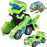 Yojoloin Dinosauro Macchinine Giocattolo Transformer Giocattoli Bambini,Robot car Con Luci e...