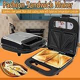 RDYL Sandwich- & Panini Toaster Waffelmaschine Edelstahl Backautomat Haushalt Sandwichmaschine...