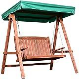 Outsunny Gartenschaukel für 2 Personen, Hollywoodschaukel, Schaukelbank mit Dach, Massivholz,...