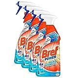 Bref Power Kalk & Schmutz, Kalkreiniger, Sprühflasche, für hygienische Sauberkeit, (4 x 750 ml)