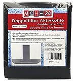 M&H-24 Filter Dunstabzugshaube Aktivkohle Zuschneidbar - Aktiv-Kohlefilter für Abzugshaube...