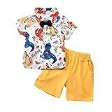 1-6 Jahre Kleinkind Baby Boy Gentleman Dinosaurier Suit Fliege Cartoon Dinosaur T-Shirt Shorts Hosen...