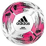 adidas Team Artificial Fuball, White/Shock Pink/Black/Silver Metallic, 5
