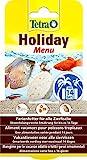 Tetra Holiday Menu Ferienfutter für Zierfische, Gelfutterblock mit Krill, Pellets und Daphnia,...