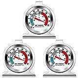 Kühlschrank Thermometer, Gefrierschrankthermometer, 3 Stück kühlschrankthermometer Set,...