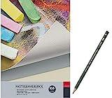 Pastellmalblock Artservice-Tube, Malblock für Pastellfarben, Skizzenblock Zeichenblock, 20 Blatt...