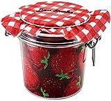 Rainbow Socks - Damen Herren - Erdbeeren und Blaubeeren Socken im Glas - Geschenk Idee - 2 Paar -...