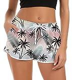 Fanient Damen Badehose Schwimmhose Hawaiian Strandhose Workout Laufen Athletic Lounge Hose...