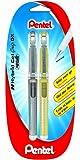 Pentel Hybrid gel Grip-DX K230 2er Set aus Metall, Druckfarben Gold und Silber