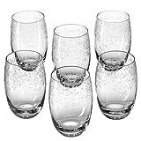 Leonardo Chateau Trink-Gläser, 6er Set, Glas-Becher mit floralem Muster, spülmaschinenfeste...