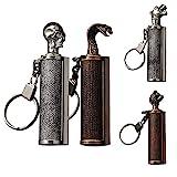 Permanent Match Feuerstarter mit Karabiner,Docht,Notfall Wasserdicht,O-Ring Dieses Survival...