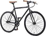 BIKESTAR Singlespeed 700C 28 Zoll City Stadt Fahrrad Fixie | 53 cm Rahmen Rennrad Retro Vintage...