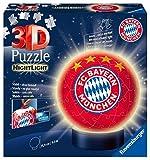 Ravensburger 3D Puzzle 12177 - Nachtlicht Puzzle-Ball FC Bayern München - 72 Teile - ab 6 Jahren,...