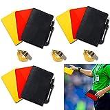 jeeri 2 Paar Sport Schiedsrichter Karten Set, Fussball Sport Schiedsrichter Karten Set, mit Gelbe...