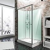 Schulte Fertigdusche Komplettdusche 120 x 90 cm Duschtempel Ibiza, 5 mm Sicherheits-Glas, Profile...