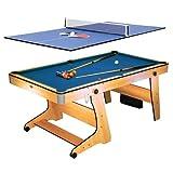 Riley FP-6TT - 2-in-1 Multifunktionsspieltisch, Pool-Billardtisch, Tischtennis, Klappsystem,...