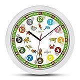 Cander Berlin MNU 1330 Kinderwanduhr (Ø) 30,5 cm Kinder Wanduhr mit lautlosem Uhrenwerk und...