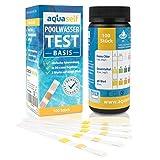 aquaself Poolwasser-Test Basis  Wassertester fr Pool auf pH und Chlor und Gesamtalkalinitt  100 Stck...