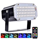 Disco Lichteffekt, AUSHEN 48 LED Stroboskop licht, party licht mit Fernbedienung, Sprachaktiviertes...
