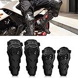 Motorrad Knieschoner und Ellenbogenschoner Set - 4 Stck verstellbare knie schutz und...