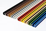 Rollmayer glänzend einläufig Gardinenschiene aus Aluminium (Weiß Gardinenschiene mit...