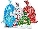 GeschenktüTen Weihnachten 15Stk,Kordelzug Weihnachtstüten SäCkchen Weihnachtsgeschenkbeutel Mit...