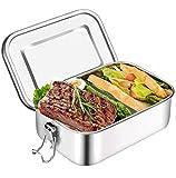 Brotdose Edelstahl Auslaufsicher 1000 ml mit Fächern Lunchbox,Lunchbox Brotbox Vesperdose...