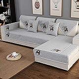Hybad Sofabezug,Möbel Protector Für Sofa,Sofaüberwurf,Universal Deer Pattern Sectional Sofa...