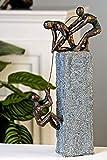 Exklusive Skulptur ASSISTANCE aus Poly in bronze/dunkelgrau Höhe 43 cm Breite 18 cm