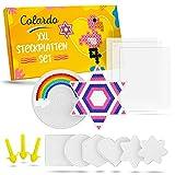 Colardo® [8x] Bügelperlen Platten - Inklusive 3x Bügelpapier und 8 kreative Vorlagen -...