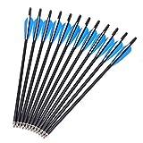 SHIYM-JT, 12pcs / Lot Armbrustbolzen Arrows17 20' 22' Crossbow Mix Carbon-Pfeil, Fabrik-Preis (Farbe...