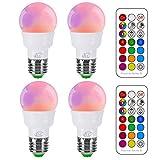 iLC Glühbirne mit Fernbedienung Farbwechsel Farbige Leuchtmittel LED Lampe Edison Dimmbare Farbige...