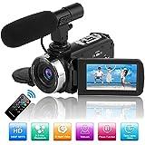 Videokamera Camcorder Full HD 1080P 30FPS 24.0MP Digitalkamera Nachtsichtkamera für YouTube...