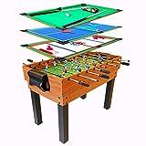 FSJD Tischkicker, 4 in 1 Multi-Games-Tisch, Mini-Billardtisch, Air-Hockey-Tisch,...