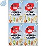 Pro-bijo Bio-Getreide-Breie Reis und Mais mit Tapioka , 100% Bio-Zutaten, Glutenfrei, nach dem...
