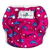 Babyino Wiederverwendbare Schwimmwindel für Babys (Pink Delphin) 6 bis 36 Monate Größe...