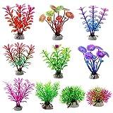 XYDZ Aquarium Pflanzen Deko, 15 Stück Aquarium Wasserpflanzen, Klein Kunststoff Pflanzen Aquarium...