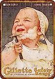 Metallschild, 40,6 x 30,5 cm, Gillette Rasierhobel, Eisen Poster Gemälde Blechschild Vintage...