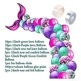 Hjdmcwd Luftballons 42pcs Mermaid Ballon-Bogen-Set Mermaid Schwanz Ballon Little Mermaid...