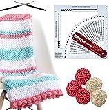 YZDM Knitting Gauge Converter, Zählrahmen Kunststoff Strickrechner, Strickwerkzeuge f¨¹r das...